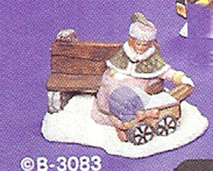 B3083 Village Mother w- Buggy  Ceramic Molds