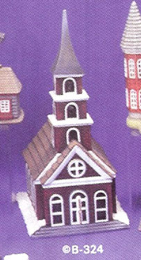B324 Village Church.. Ceramic Molds