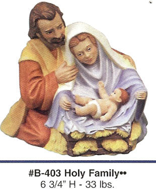 B403 Holy Family.. Ceramic Molds
