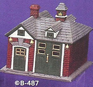 B487 Village Firehouse Ceramic Molds