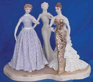 "JM244 8 1/4"" -3 Busts  Doll Molds"