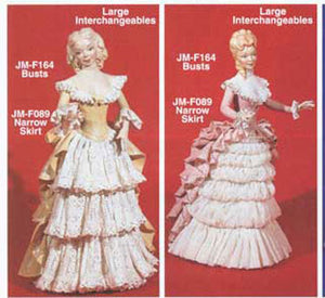 "JMF-146 12"" -2 Busts only DOLL Molds"