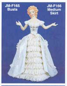 "JMF-166 12"" Skirt  only DOLL Molds"