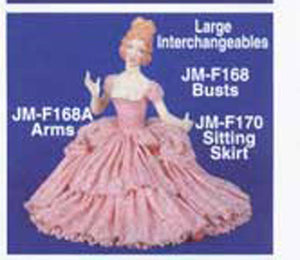 "JMF-168A 12"" Arms only 3- pair DOLL Molds"