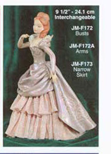 "JMF-172 9 1-2""-3 Busts ONLY DOLL Molds"