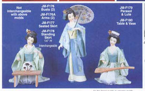 "JMF-179 14"" PARASOL & LUTE only Doll Molds"