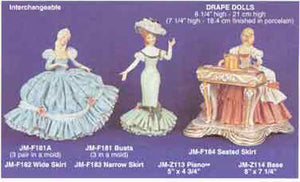"JMF-181 8 1-4"" -3  BUSTS only Doll Molds"