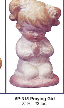 P315 Praying Girl  Ceramic Molds