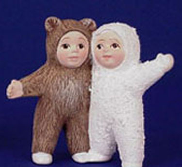 S1463 Snow Baby & Bear Baby Standing Ceramic Mold
