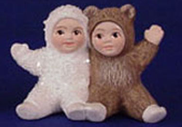 S1466 Snow Baby & Bear Baby Sitting Ceramic Mold