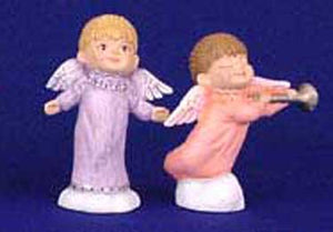 S1468 Angel on Tiptoes-Angel w-Horn Ceramic Mold