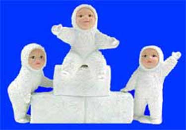 S1498 Snow Baby & Ice Blocks Ceramic Mold