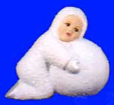 S1510 Large Snow Baby Laying on Snowball Ceramic Mold