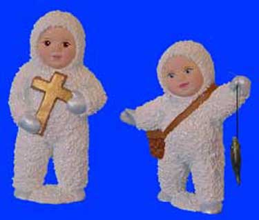 S1519 Snow Baby w-cross & Fishing S.B. Ceramic Mold