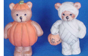 S1537 Pumpkin & Mummy Bear Ceramic Mold