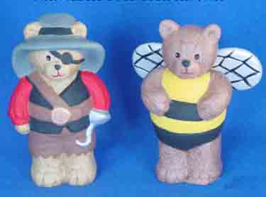 S1539 Angel & Belly Dancer Bears Ceramic Mold