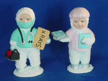 S1548 Snow Baby Doctor and Nurse Ceramic Mold