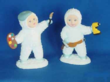 S1549 Snow Baby Worker And Artist Ceramic Mold