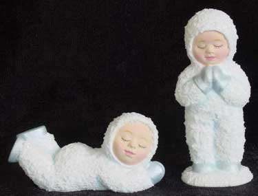 S1556 Two Praying Snow Babies Ceramic Mold