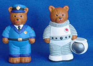 S1560 Police Bear & Astronaut Bear Ceramic Mold