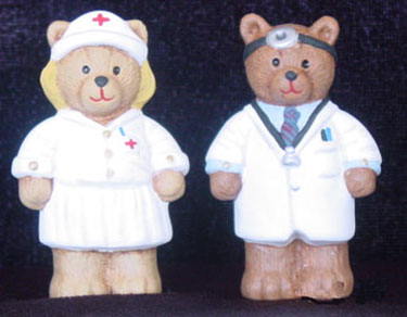 S1563 Doctor Bear & Nurse Bear Ceramic Mold