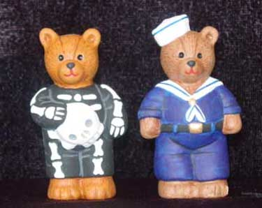 S1564 Sailor & Skeleton Bear Ceramic Mold