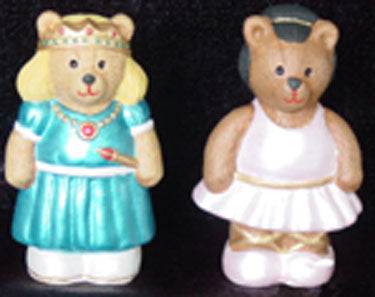 S1566 Ballerina Bear & Princess Bear Ceramic Mold