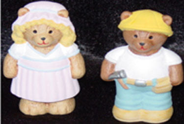 S1567 Goldilocks & Construction Bears Ceramic Mold