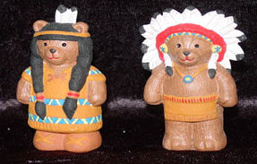 S1568 Chief & Squaw Bear Ceramic Mold