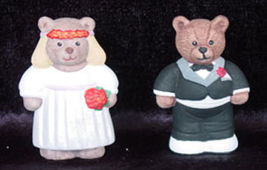 S1571 Bride & Groom Bear Ceramic Mold