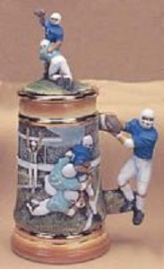 "H314AB Football Stein 10"" Ceramic Mold"