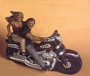 H374 Medium Motorcycle with Couple 5x7