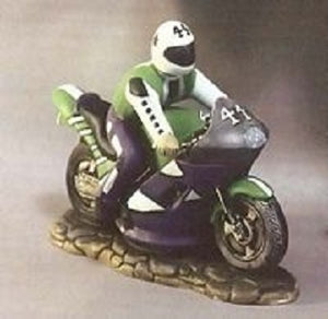 "H512H513 Racing Bike with Rider 7x4""  Ceramic Mold"