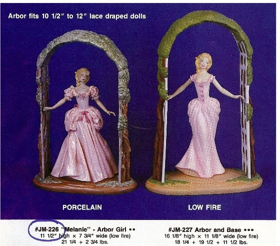 JM226 Arbor Girl Doll Molds
