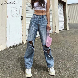 Ripped Wide Leg Pants