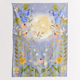 Flower and Moon Tapestry