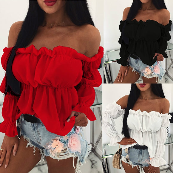 Off-Shoulder Blouse