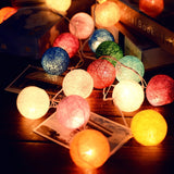 LED Cotton Ball Garland Lights