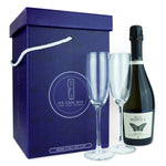 prosecco gift with glasses