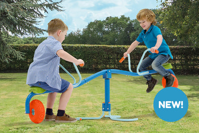 Introducing Spiro Spin - The spinning bouncing seesaw
