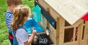 Wooden Playhouses - with Kitchen