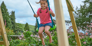 Wooden Climbing Frames - With Swing