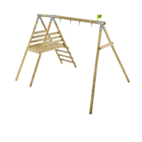 TP Knightswood Wooden Double & Deck Swing Frame-FSC<sup>®</sup>