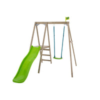 TP Forest Multiplay Single Wooden Swing & Slide Set - FSC<sup>®</sup> certified