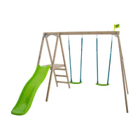 TP Forest Multiplay Double Wooden Swing Set & Slide - FSC<sup>®</sup> certified