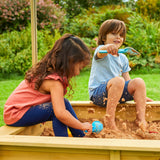 TP Wooden Sandpit with Sun Canopy