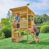 TP Treetops Wooden Tower Playhouse with Toy Box-FSC<sup>®</sup>
