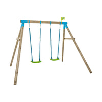 TP Knightswood Compact Wooden Double Swing Set - Builder - FSC<sup>®</sup>