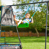 TP Explorer Metal Climbing Frame Set & Swing Black Edition