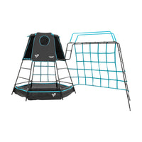 TP Explorer Metal Climbing Frame Set with Monkey Run Black Edition